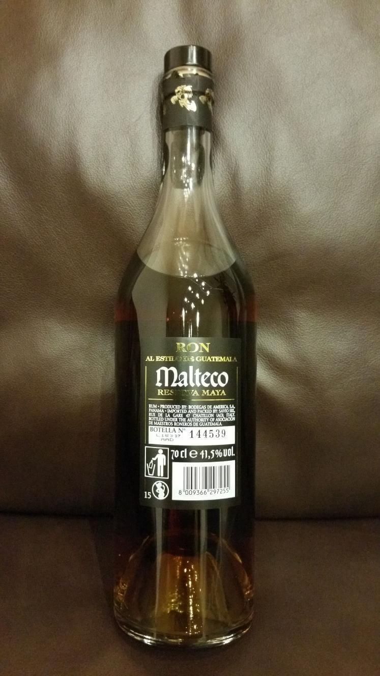 Malteco 15 Flasche Rückseite