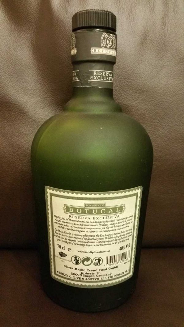 Botucal Reserva Exclusiva Flasche back