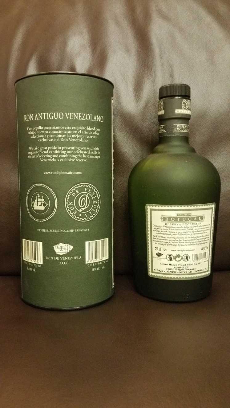 Botucal Reserva Exclusiva Flasche und Verpackung back