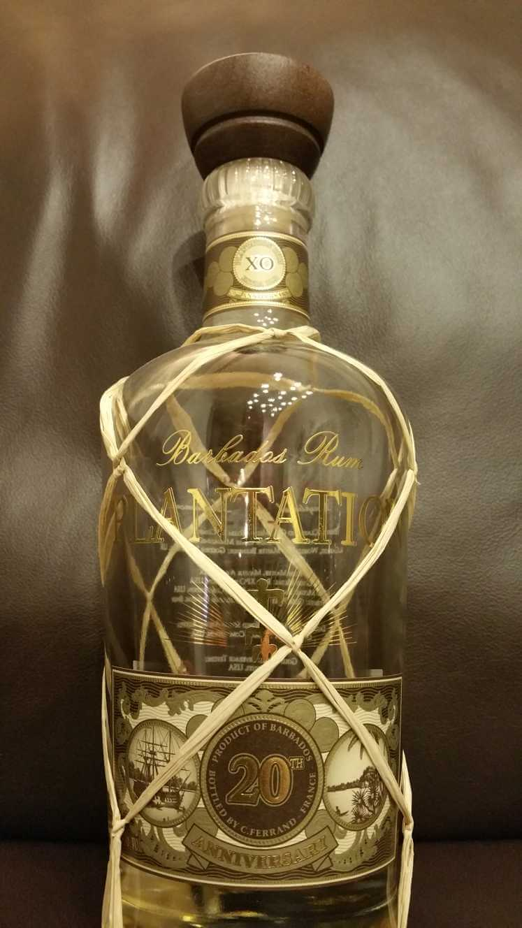 Plantation XO 20th Anniversary Barbados Rum Flasche front nah