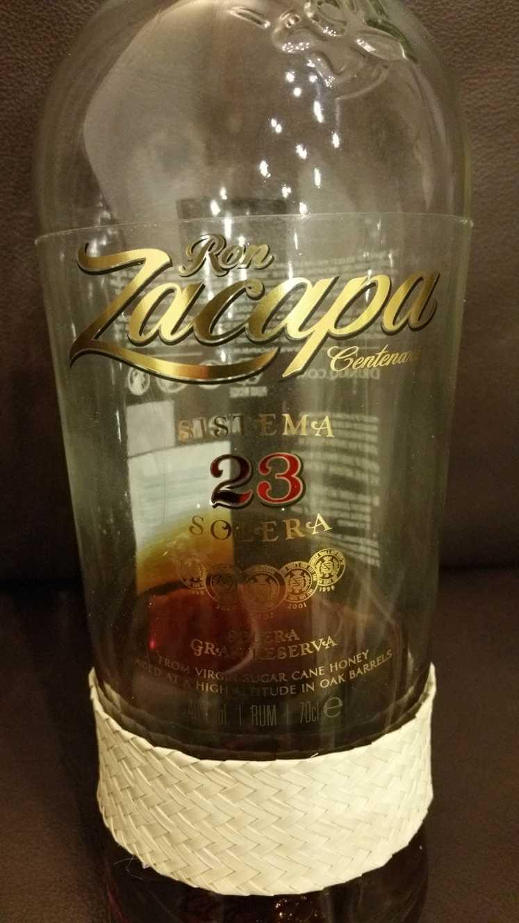 Ron Zacapa 23 Eitkett nah