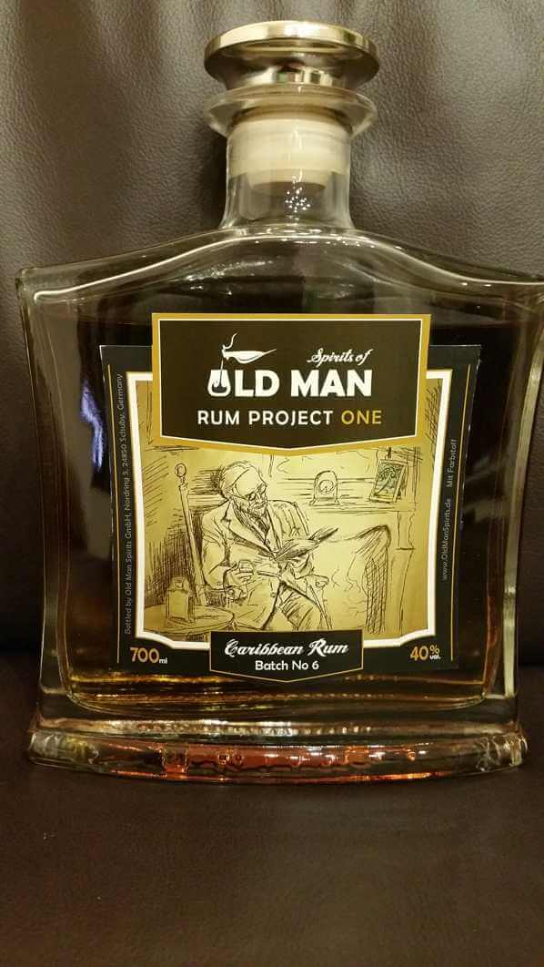 Spirits of old Man Rum Project One front nah