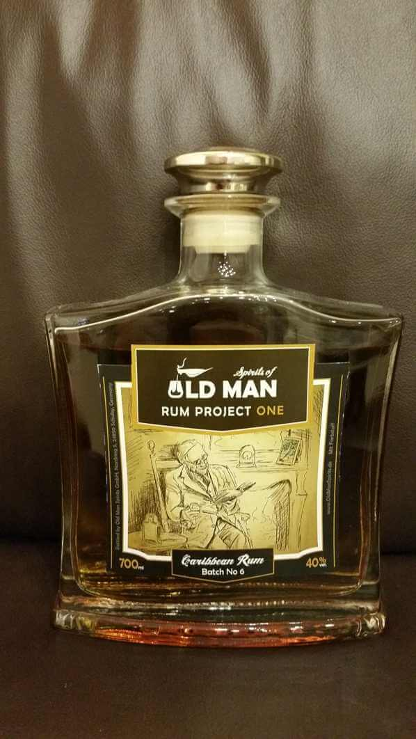 Spirits of old Man Rum Project One front