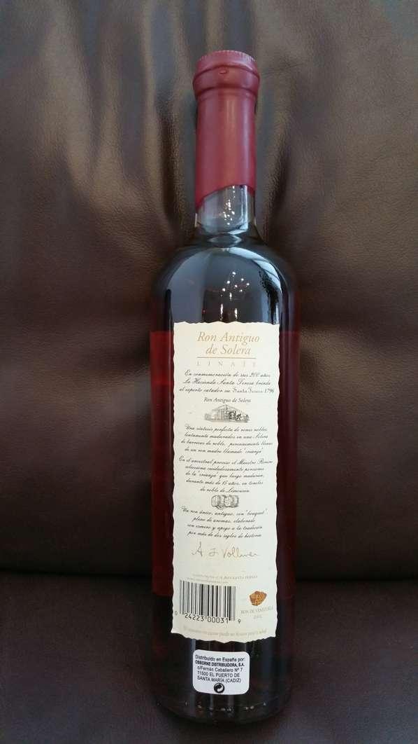 Santa Teresa 1796 Rum Flasche back