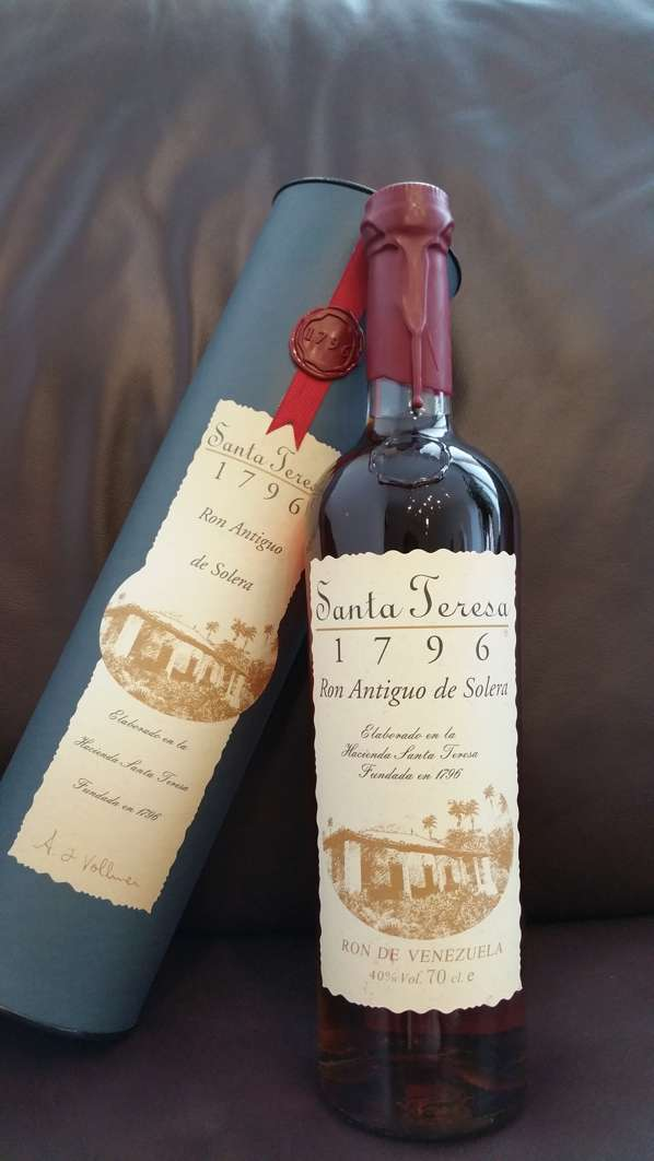 Santa Teresa 1796 Rum Verpackung + Flasche