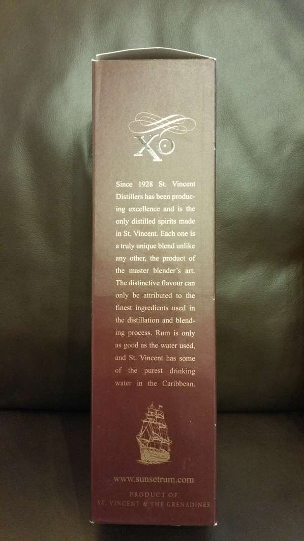Sunset Captain Bligh XO Reserve Rum Packung Seite 2