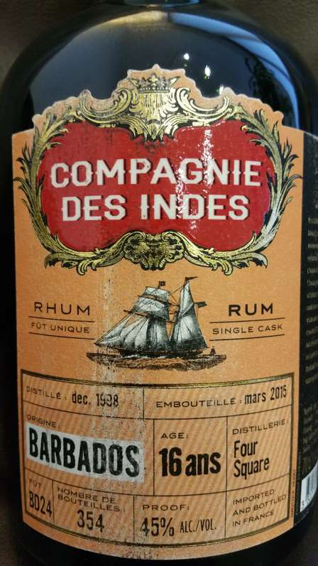 Compagnie des Indes Barbados Foursquare 16Y Single Cask Label 2