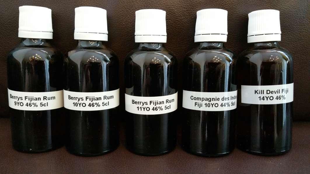 Fiji Rum Samples front wide