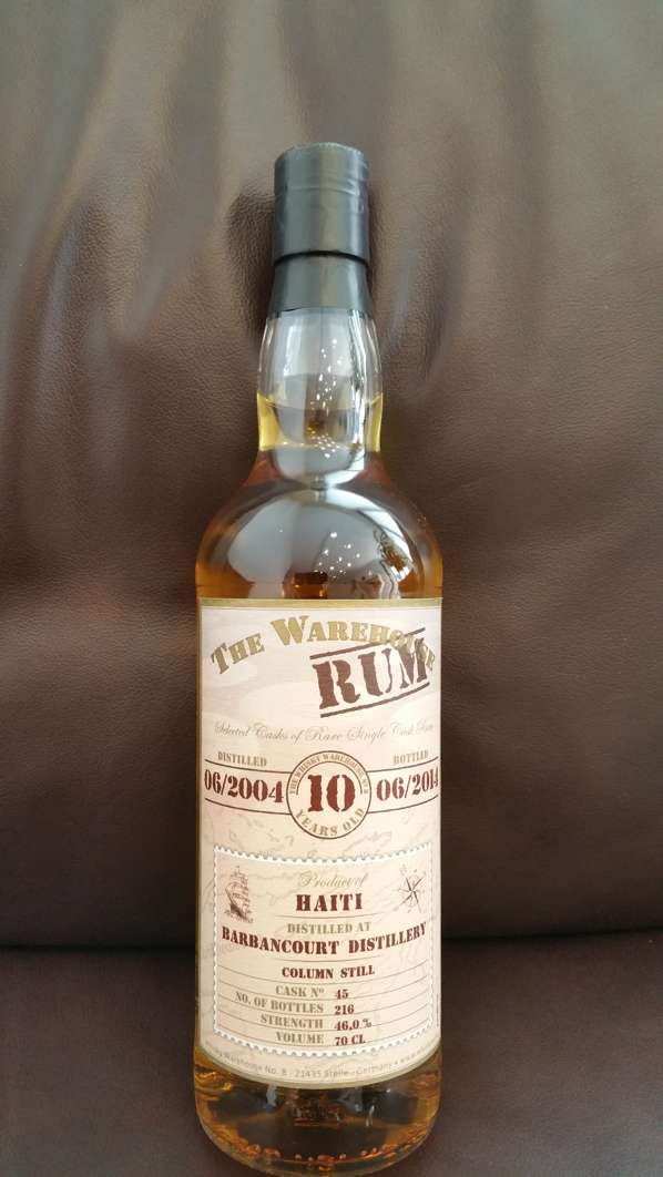 The Warehouse Rum Barbancourt 10 YO front