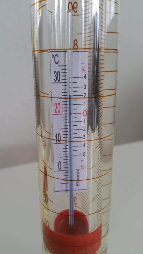 Messung Alkohol Temperaturkorrektur