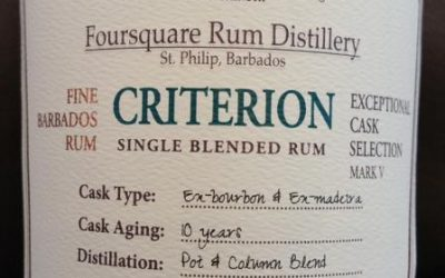Foursquare Criterion Exceptional Cask Selection Mark V – Tasting