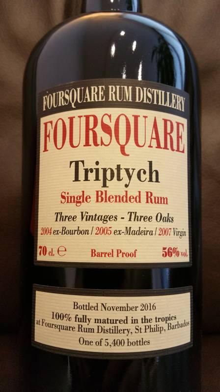 Velier Foursquare Triptych Etikett Front