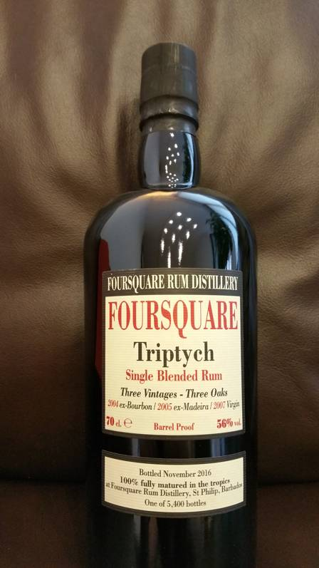 Velier Foursquare Triptych Flasche Front