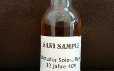 Dictador 12 Jahre Solera – Tasting