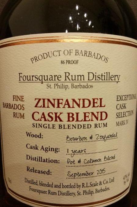 Foursquare Zinfandel Cask Blend – Tasting