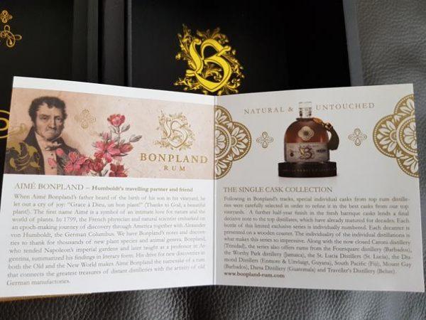 Bonpland Rum Barbados 20 Jahre Heft