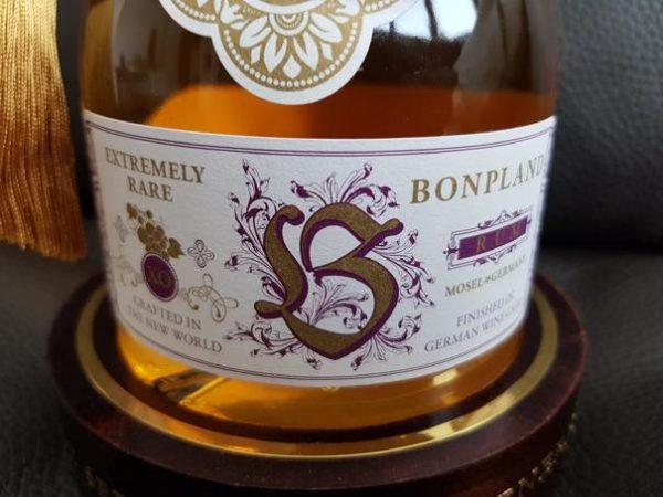 Bonpland Rum Barbados 20 Jahre Label