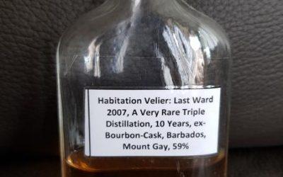 Habitation Velier Last Ward 2007 – Tasting