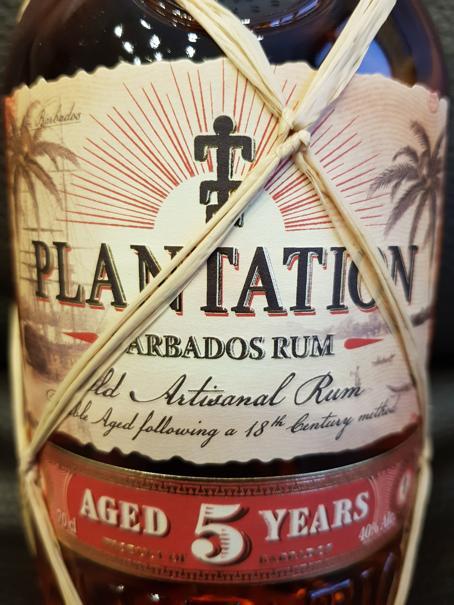 Plantation Barbados Grande Reserve Rum 5 Jahre front nah