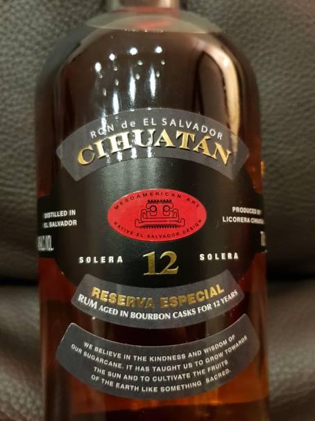 Cihuatan Solera 12 Reserva Especial – Tasting